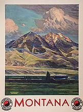 KROLLMANN, Gustav W (1888-1962) - MONTANA, Northern Pacific