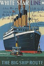 A 15 x 10.3 colour postcard featuring the White Star Line Titanic from the...