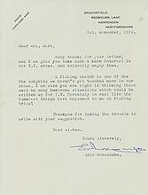 Collection of autograph and typed letters and signatures of various golfers