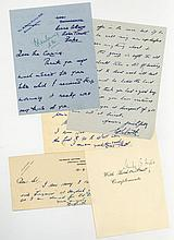 Large collection of 20th century autographs , mainly actors, aristocrats