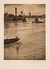 C.R.W. Nevinson (1889-1946) - View of the Thames looking toward Westminster