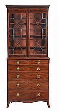 A George III mahogany secretaire bookcase , circa 1780
