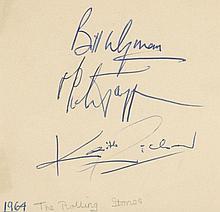 ROLLING STONES - Autograph album including signatures of Bill Wyman, Mick Jagger