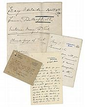 COLLECTION OF LETTERS - INCL. DISRAELI - Collection of signed letters and cards, late nineteenth century to...