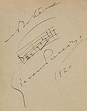 AUTOGRAPH ALBUM- INCL. PUCCINI, GILBERT, DIAGHILEV - Autograph album kept by Lady Magdalene Louis and comprising...