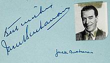 AUTOGRAPH ALBUM - MUSICIANS AND ACTORS - Autograph album containing signatures of actors, music hall stars