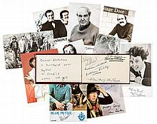 AUTOGRAPH COLLECTION - BRITISH ENTERTAINERS - Autograph album containing signatures mainly by prominent British...