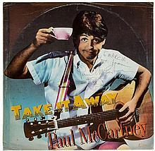 MCCARTNEY, PAUL - Signed copy of McCartney's record 'Take It Away', 12