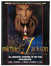 JACKSON, MICHAEL - Rare copy of the programme of 'Michael Jackson