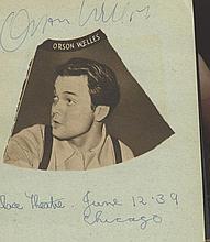 AUTOGRAPH ALBUM - INCL. ORSON WELLES - Autograph album including signatures of Orson Welles, Ida Lupino