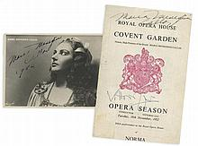 CALLAS, MARIA - A leaf torn from the programme of the 1952 season of the Royal...