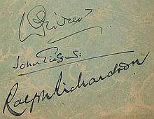 OLIVIER, LAURENCE - JOHN GIEGULD- RALPH RICHARDSON - A rare copy of William Shakespeare's 'Richard III