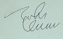 AUTOGRAPH ALBUM - INCL. JOHN LENNON - Autograph album containing signatures of prominent musicians of...