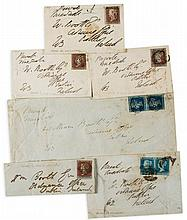 WELLESLEY, ARTHUR DUKE OF WELLINGTON - A small collection of envelopes, all but one addressed in the Duke...