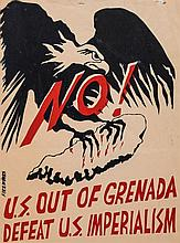 **ANTI-IMPERIALISM - Collection of handmade posters used in political demonstrations...