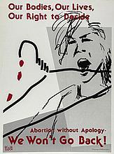 **FEMINISM - ABORTION - Original 63.8 x 48.2cm placard reading