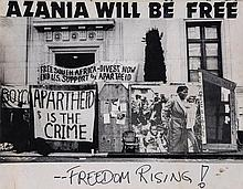 **ANTI- IMPERIALISM - APARTHEID - Collection of handmade posters used in political demonstrations...