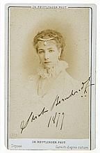 AUTOGRAPH ALBUM - Victorian autograph album, comprising clipped signatures and...