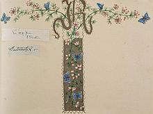 AUTOGRAPH ALBUM - INCL. RUSKIN - Autograph album containing letters and clipped signatures by...