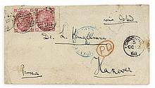MARX, KARL - Autograph envelope addressed to