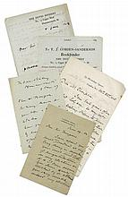 ARTISTS & ARCHITECTS - LATE 19TH CENTURY - Group of autograph letters and cards signed by prominent late...