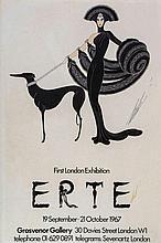 ERTE' - Poster for the 1967 Erte' First London Exhibition at the Grosvenor...