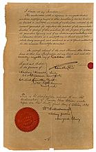 EDISON, THOMAS - Printed patent application signed by Thomas Edison in autograph,