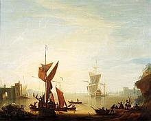 Peter Monamy (1681-1749), A British warship lying