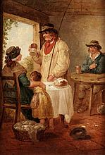 George Morland (1763-1804), Figures in a cottage