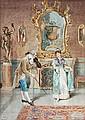 ** Argusi (19th century) The serenade. Watercolour