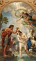 After Carlo Maratta, The baptism of Christ, oil on