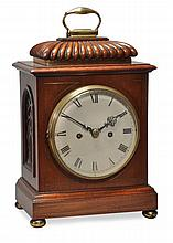 A brass inlaid mahogany bracket clock Unsigned