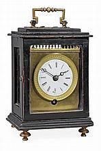 A Continental ebonised carriage timepiece Unsigned