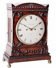 A Regency carved mahogany bracket clock Desbois and Wheeler, London