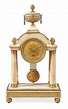 A William IV ormolu mounted white marble mantel timepiece F