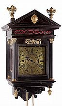 A Queen Anne hooded wall timepiece with alarm William Gill, Maidstone
