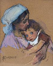 Elizabeth Adela Stanhope Forbes (1859-1912) - Mother and child,