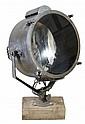 An English gunmetal and glazed ship's searchlight,