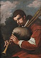 Follower of Antonio Amorosi, Bagpipe player, Oil