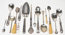 A collection of silver flatware, various makers and George III to Elizabeth...