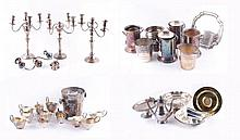 A collection of electro-plated items, including