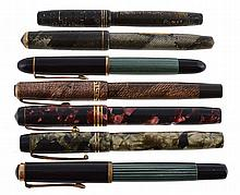 Pelikan, 140, a green and black fountain pen