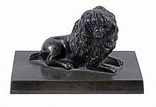A French bronze model of a poodle, circa 1840