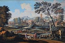 After Nicholas Poussin The Burial of Phocion Gouache 41 x 63 cm