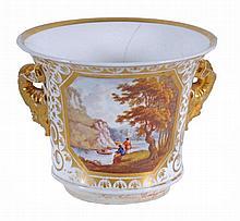A Derby bucket shaped jardiniere , circa 1820