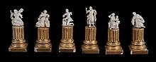 A collection of six miniature ivory figures of saints or worshippers