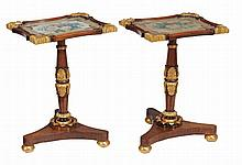 A pair of rosewood and parcel-gilt occasional tables , circa 1825 and later