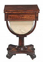 A William IV rosewood games table , circa 1835