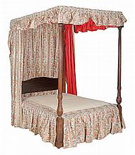A mahogany tester bed , circa 1780 and later