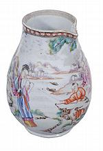 A Mandarin palette milk jug , Qing Dynasty, Qianlong , painted with figures 11